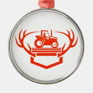 Ornamento De Metal Trator do Antler dos cervos da cauda branca retro