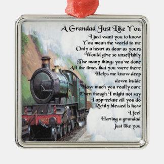 Ornamento De Metal Trem - poema do Grandad