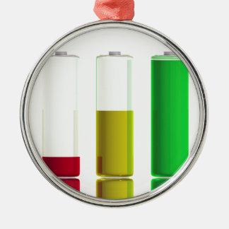 Ornamento De Metal Três baterias
