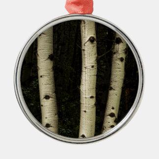 Ornamento De Metal Três colunas da floresta