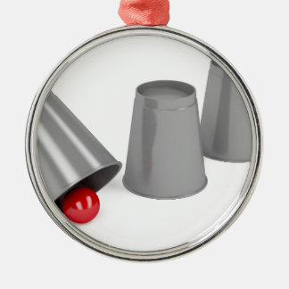 Ornamento De Metal Três copos e uma bola
