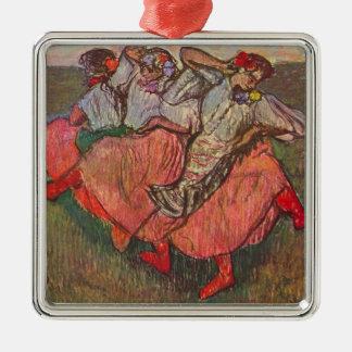 Ornamento De Metal Três dançarinos do russo por Edgar Degas