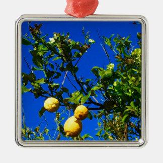 Ornamento De Metal Três limões sicilianos