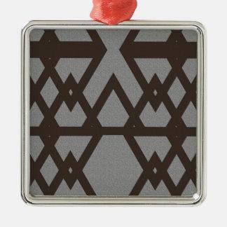 Ornamento De Metal Triângulo e teste padrão das cinzas do diamante