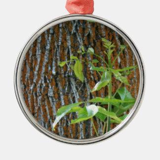 Ornamento De Metal Tronco com folha