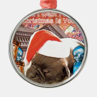 Ornamento De Metal Tudo que eu quero para o Natal é você
