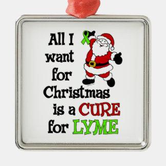 Ornamento De Metal Tudo que eu quero para o Natal… Lyme