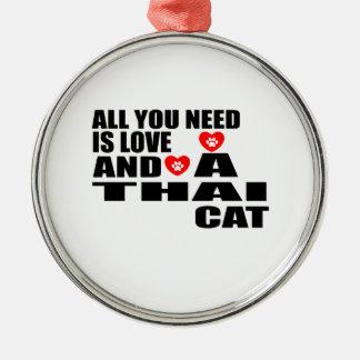 ORNAMENTO DE METAL TUDO QUE VOCÊ PRECISA É DESIGN TAILANDÊS DO CAT DO