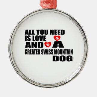 Ornamento De Metal Tudo você precisa cães SUÍÇOS do CÃO da MONTANHA