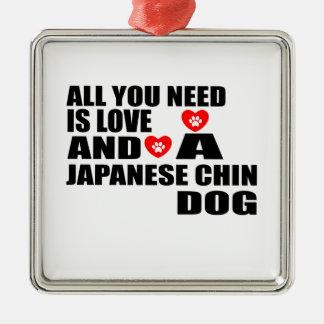 Ornamento De Metal Tudo você precisa o design JAPONÊS dos cães do