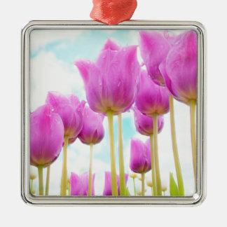 Ornamento De Metal tulipas