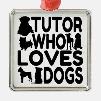 Ornamento De Metal Tutor que ama cães