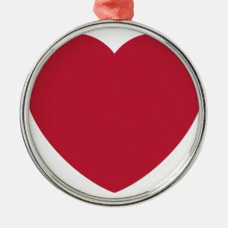 Ornamento De Metal Twitter Love Heart Emoji