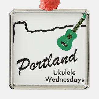 Ornamento De Metal Ukulele quartas-feiras de Portland