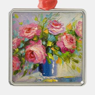 Ornamento De Metal Um buquê dos rosas