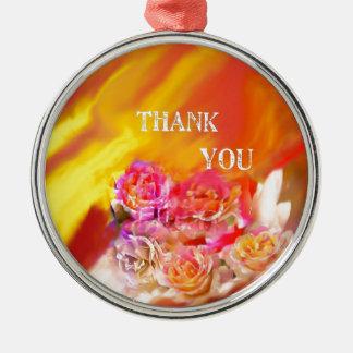 Ornamento De Metal Um cheio da mão dos obrigados tende para você