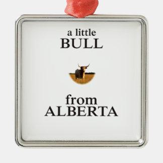 Ornamento De Metal Uma Bull pequena de Alberta