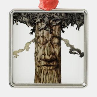 Ornamento De Metal Uma capa poderosa da árvore