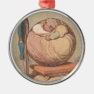 Ornamento De Metal Uma esfera, projetando-se contra um plano