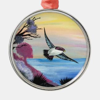 Ornamento De Metal Uma opinião dos pássaros