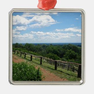 Ornamento De Metal Uma vista de Monticello