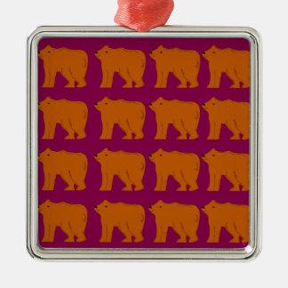 Ornamento De Metal Ursinhos polares no rosa
