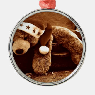Ornamento De Metal Urso do papai noel