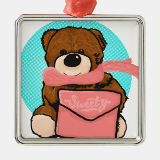 Ornamento De Metal Urso do Sweety