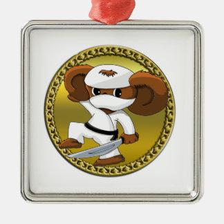 Ornamento De Metal Urso engraçado bonito de Cheburashka dos desenhos