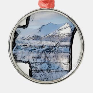 Ornamento De Metal Urso polar árctico