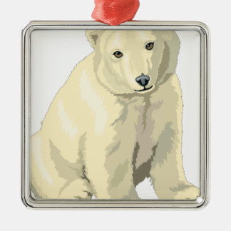 Ornamento De Metal Urso polar peluches