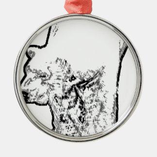 Ornamento De Metal Urso polar que Prowling