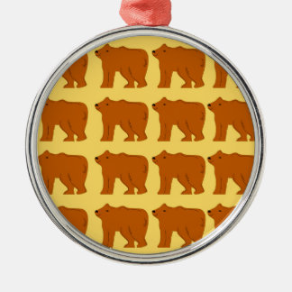 Ornamento De Metal Ursos polares no ouro