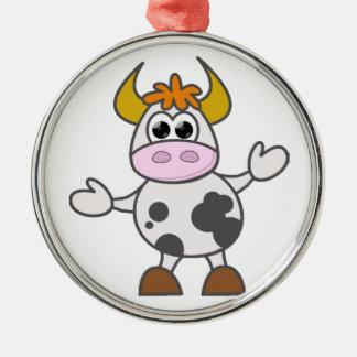 Ornamento De Metal Vaca confundida