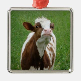Ornamento De Metal Vaca de leite da leiteria na fazenda