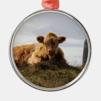 Ornamento De Metal Vaca de Luing na ilha de Islay, Scotland