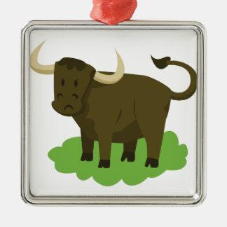 Ornamento De Metal vaca na grama
