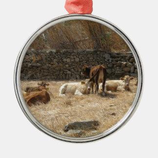 Ornamento De Metal Vacas