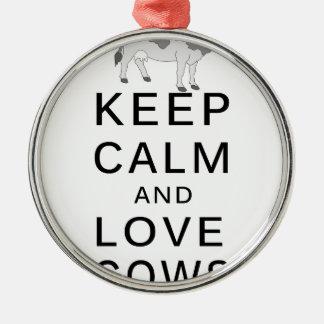 Ornamento De Metal vacas do amor