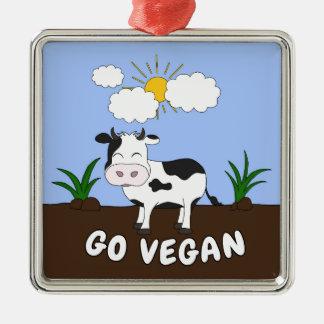 Ornamento De Metal Vai o Vegan - vaca bonito