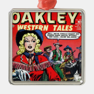 Ornamento De Metal Vaqueira Annie Oakley