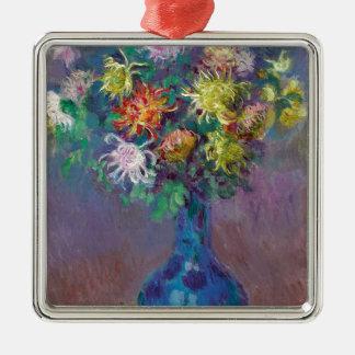 Ornamento De Metal Vaso dos crisântemos Claude Monet