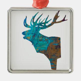 Ornamento De Metal veado principal dos cervos nos turquois