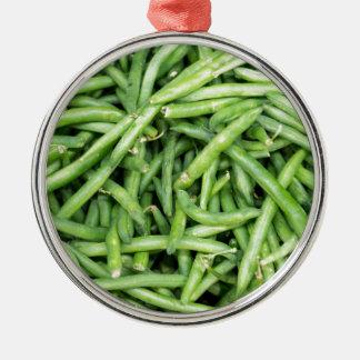 Ornamento De Metal Vegetariano verde orgânico Vegitarian dos feijões