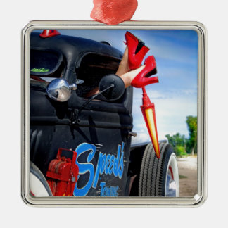 Ornamento De Metal Velocidades que rebocam o caminhão Betty