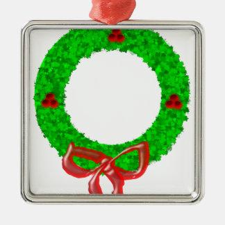 Ornamento De Metal Verde da grinalda do Natal