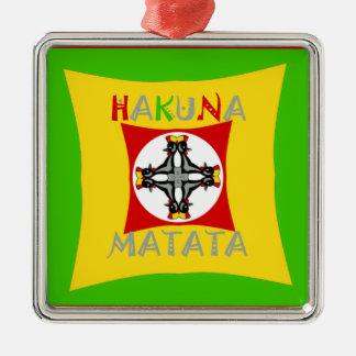 Ornamento De Metal Verde dourado vermelho da cor de Hakuna Matata