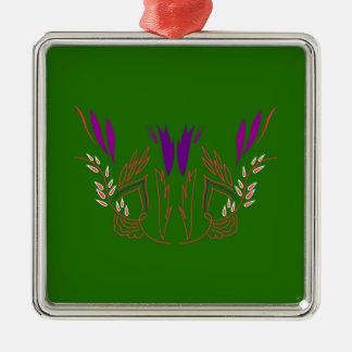 Ornamento De Metal Verde Eco da mandala do design