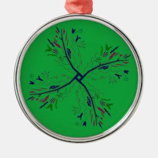 Ornamento De Metal Verde luxuoso da arte da mandala