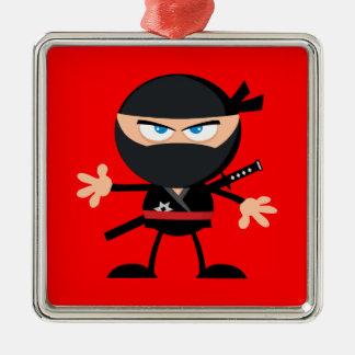 Ornamento De Metal Vermelho do guerreiro de Ninja dos desenhos
